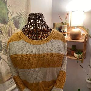 American eagle mustard stripped sweater